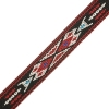 Woven Braid-hitched 5Ft 0.75in/19mm Black/red